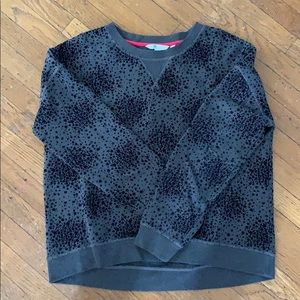 Boden Gray with black star bursts sweatshirt